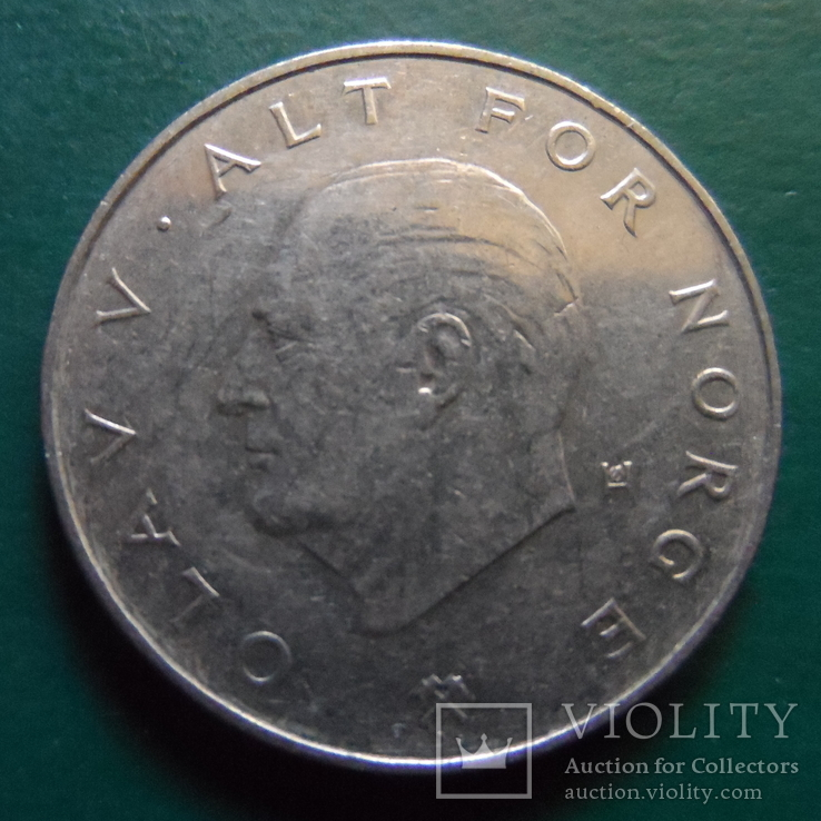 1 крона 1987  Норвегия   (2.2.20)~, фото №2