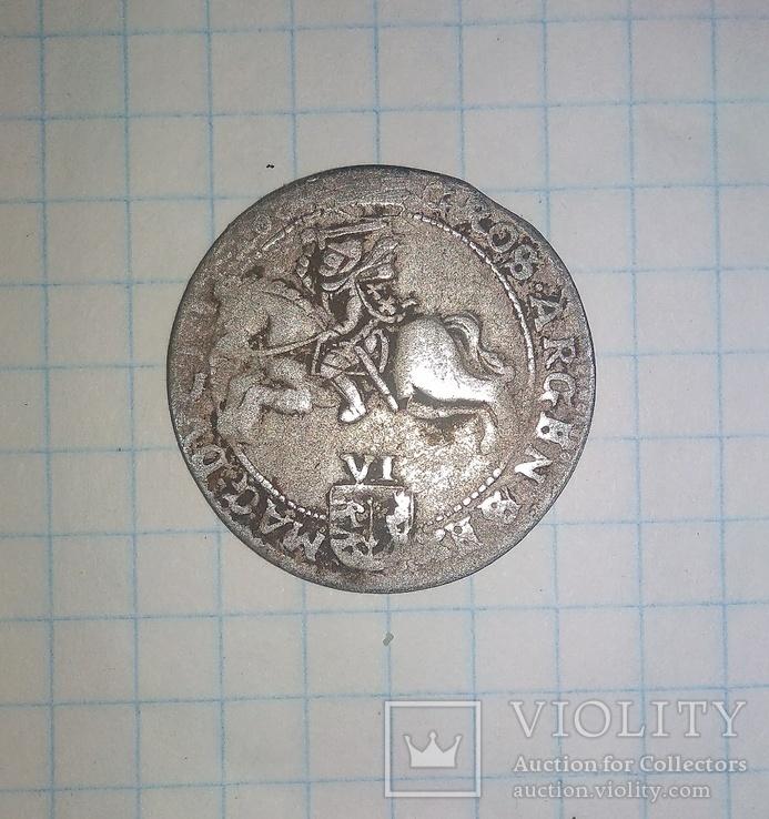 Литовський шостак Яна Казимира 1664 року. 6 грош