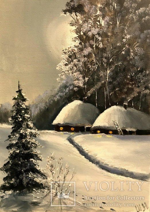 Зимний вечерок .35х25 Шаркади Н