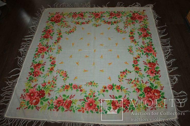 Шерстяной старинный платок №288, фото №2