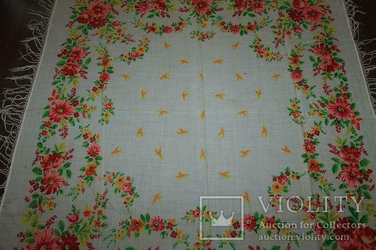 Шерстяной старинный платок №288, фото №3