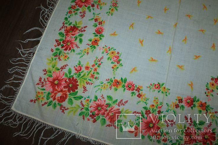 Шерстяной старинный платок №288, фото №4