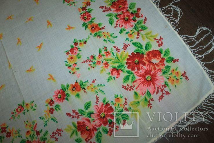 Шерстяной старинный платок №288, фото №5