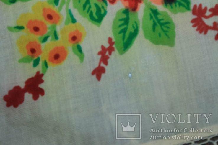 Шерстяной старинный платок №288, фото №7