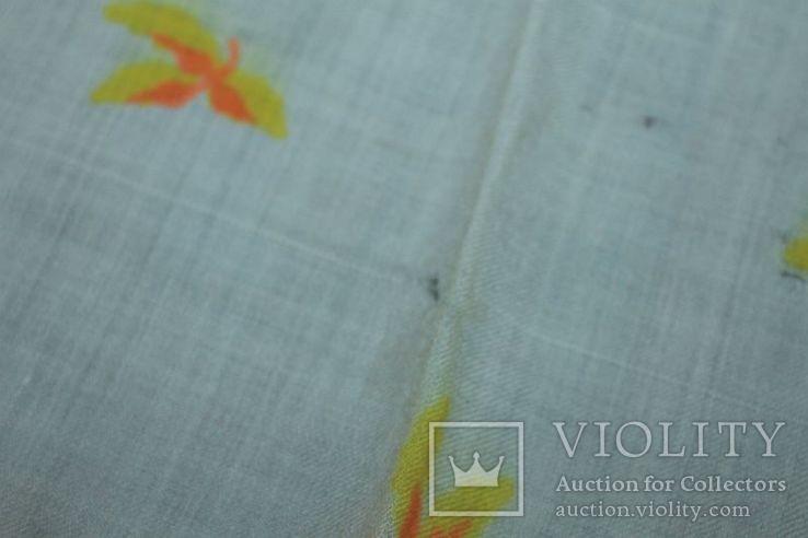 Шерстяной старинный платок №288, фото №9