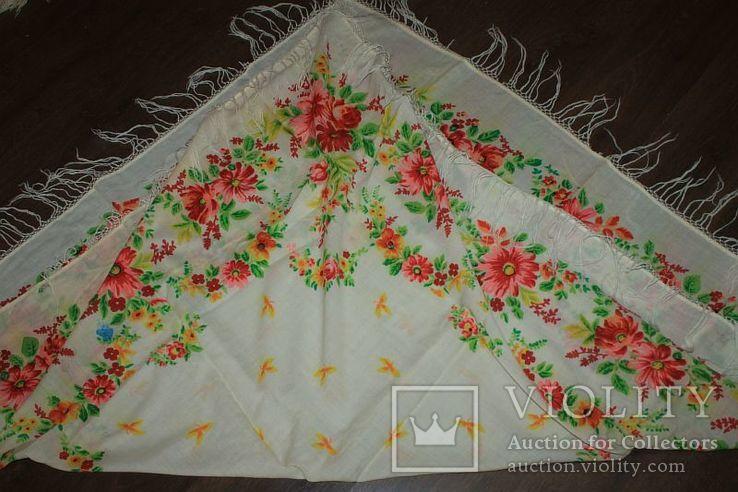 Шерстяной старинный платок №288, фото №10