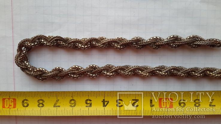 Цепочка серебряная,46,13г.,длина~61см., фото №4