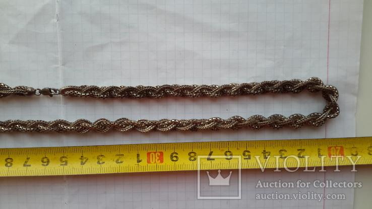 Цепочка серебряная,46,13г.,длина~61см., фото №5