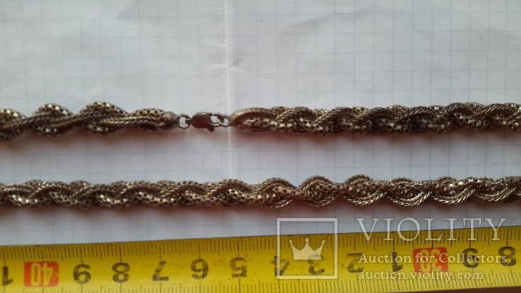 Цепочка серебряная,46,13г.,длина~61см., фото №6
