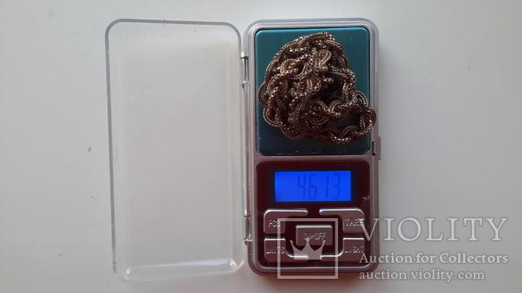 Цепочка серебряная,46,13г.,длина~61см., фото №8