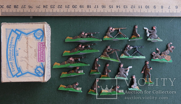 Солдатики оловянные - Германия - английские пулеметчики.