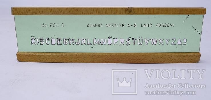 Трафарет - линейка . Германия. Albert Nestler .