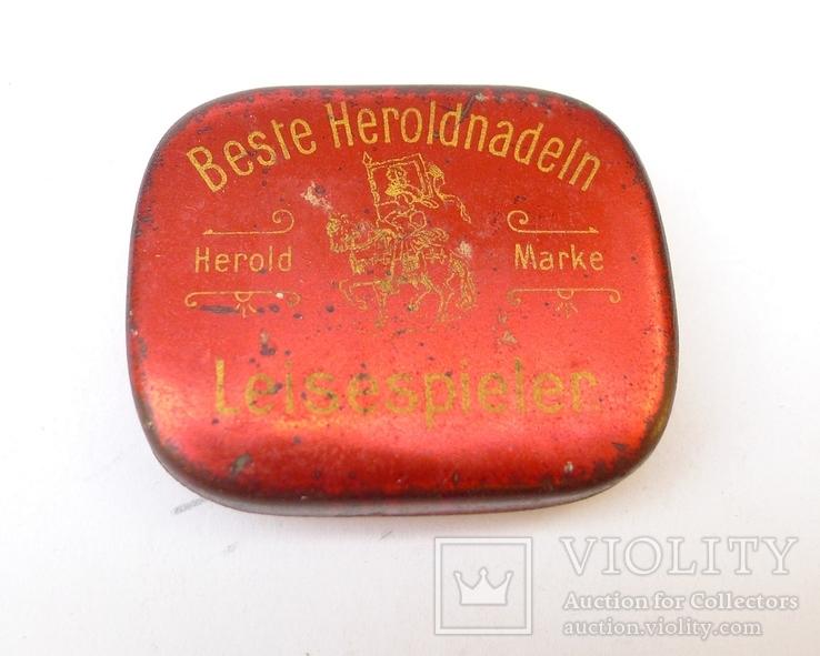 Немецкие иглы для грамофона в родной жестяной коробке.