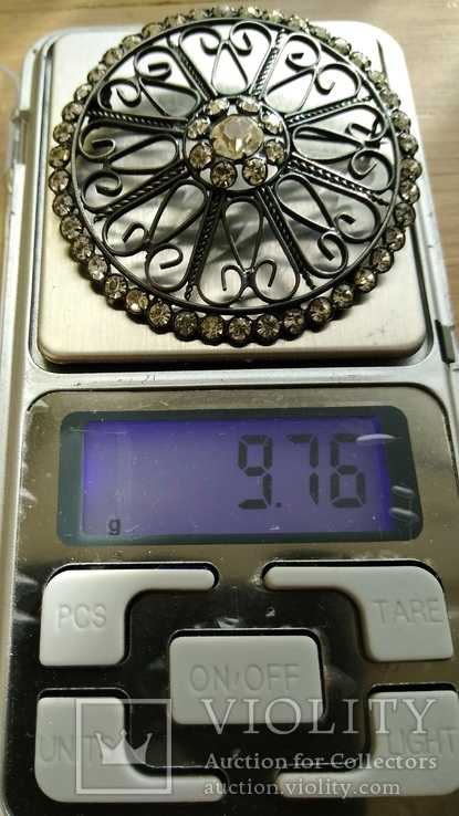 Брошь серебро 875пр. звезда, фото №3