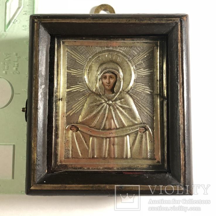 Икона в серебряном окладе (84проба) в киоте
