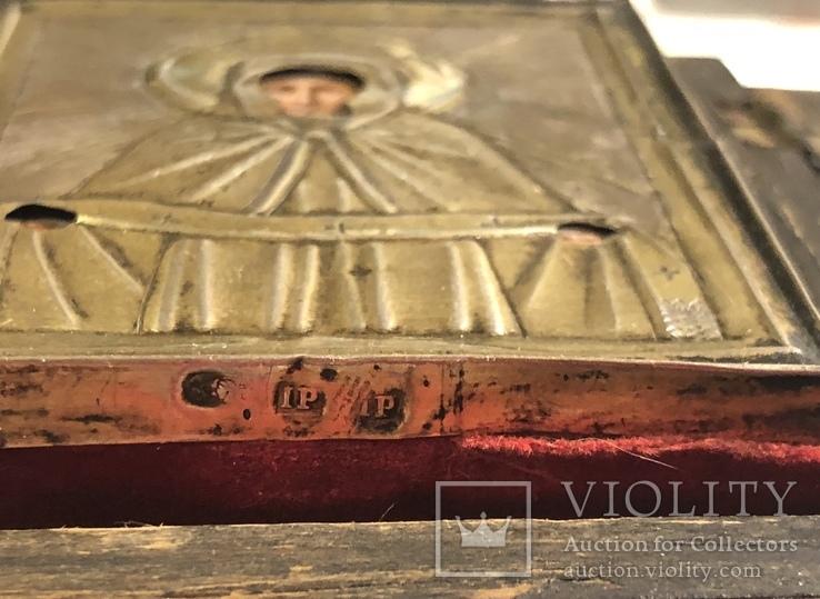 Икона в серебряном окладе (84проба) в киоте, фото №6