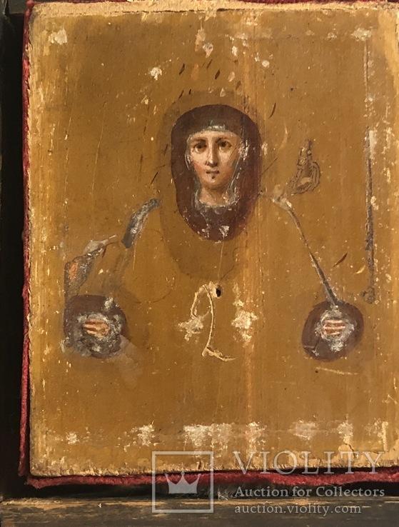 Икона в серебряном окладе (84проба) в киоте, фото №7