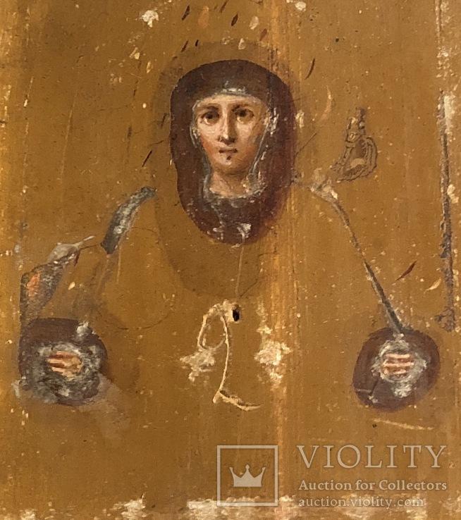 Икона в серебряном окладе (84проба) в киоте, фото №8
