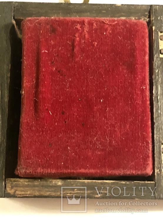 Икона в серебряном окладе (84проба) в киоте, фото №10