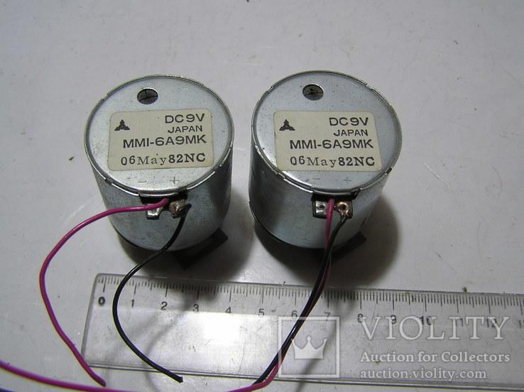 Два электродвигателя на 9 вольт. Япония. Б/у., фото №3