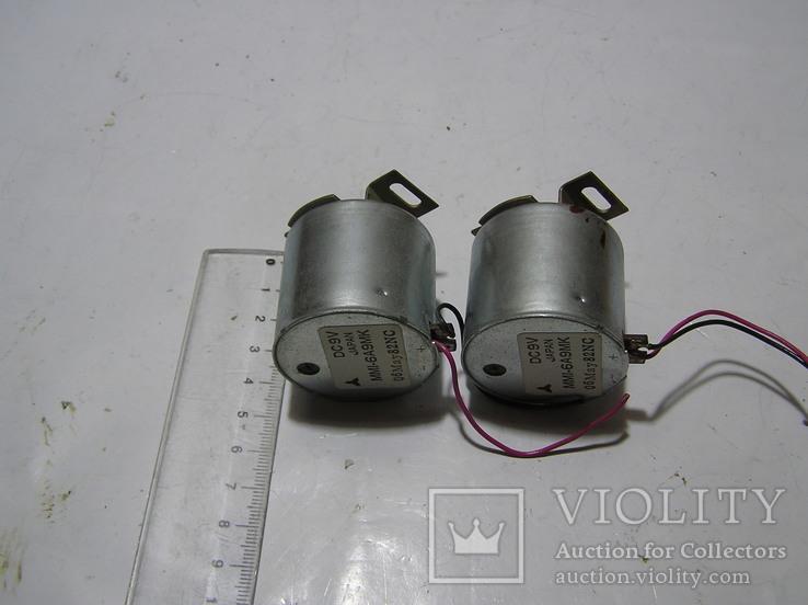 Два электродвигателя на 9 вольт. Япония. Б/у., фото №4
