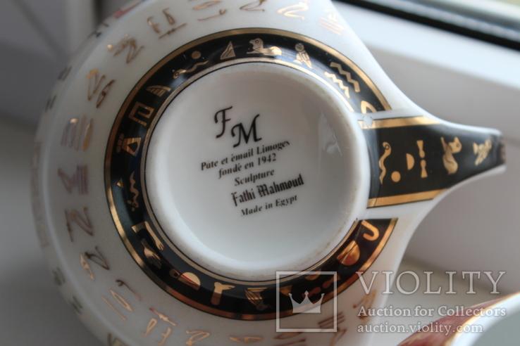 """Три чашки,  марка """"FM Fathi Mahmoud Limoges"""" c 1942 года. (Египет), фото №6"""