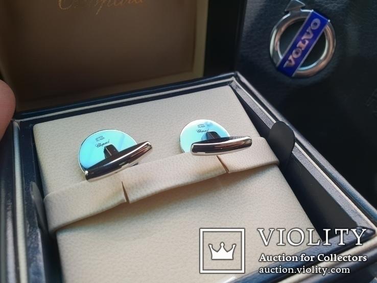 Запонки Chopard Mille Miglia 750проба, фото №4