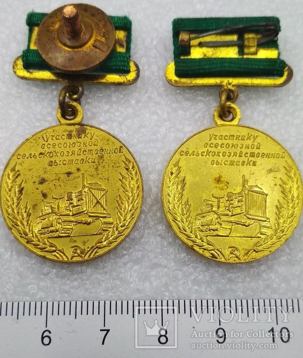 2 знака Участник Всесоюзной Сельскохозяйственной Выставки 2-а типа., фото №9