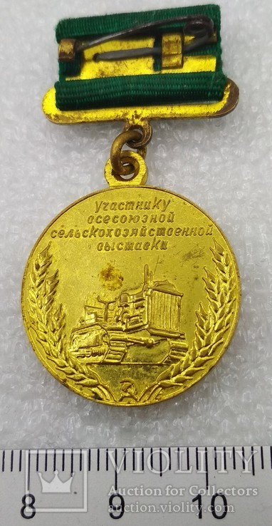 2 знака Участник Всесоюзной Сельскохозяйственной Выставки 2-а типа., фото №10