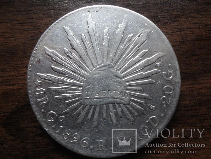 8 риалов 1896  Мексика серебро   (Л.6.10)~