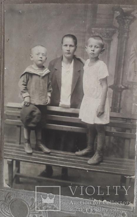 Старинное семейное фото.(11*17), фото №4