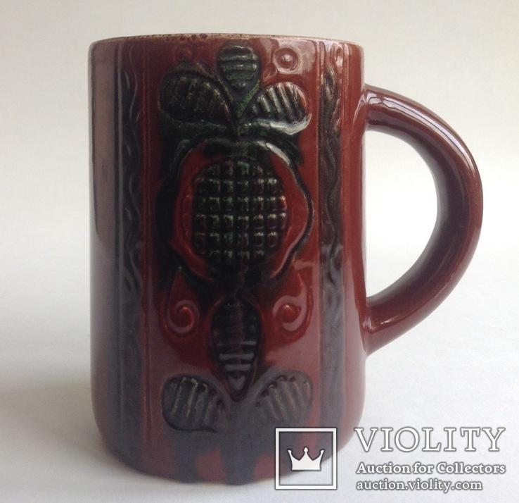 Кружка для пива / кваса старинная. Поливная керамика. Кракелюр., фото №2