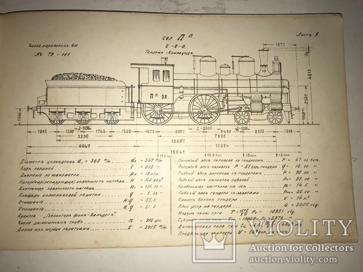 1916 Альбом Паровозов Юго-Западная Железная Дорога, фото №11