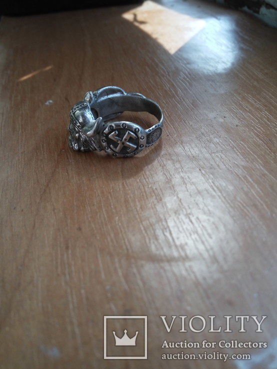 Кольцо викинг  серебро 925пр копия, фото №3