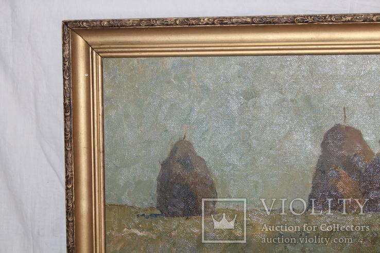 М.В. Антипов. Сенокос окончен. 1989. 60х80, фото №3