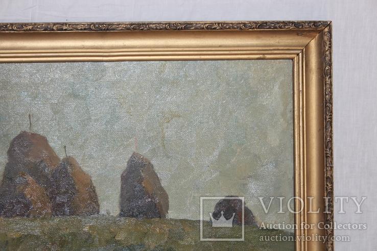 М.В. Антипов. Сенокос окончен. 1989. 60х80, фото №6