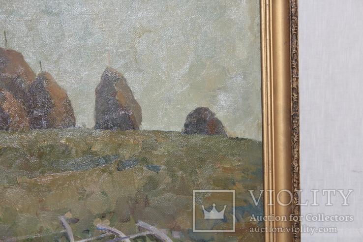 М.В. Антипов. Сенокос окончен. 1989. 60х80, фото №7