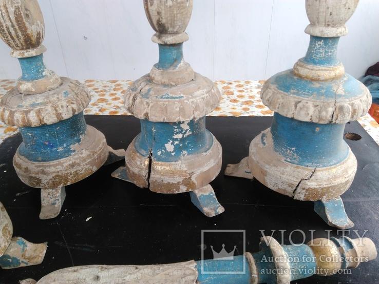 Подсвечники деревянные в барочном стиле, фото №4