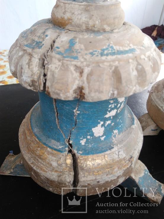 Подсвечники деревянные в барочном стиле, фото №7
