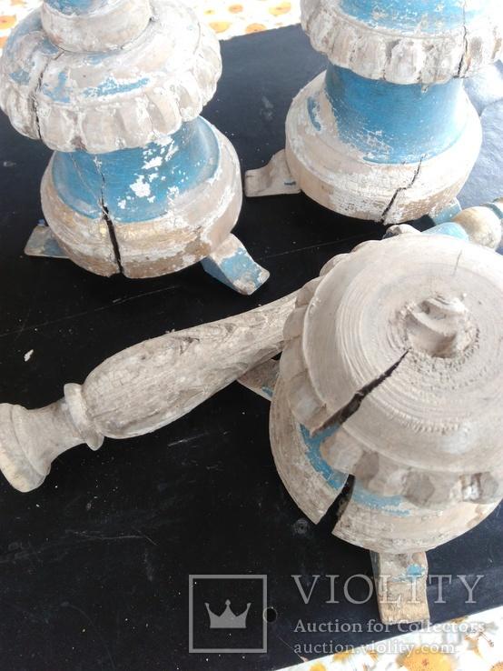 Подсвечники деревянные в барочном стиле, фото №8