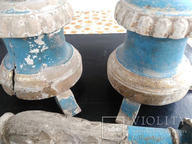 Подсвечники деревянные в барочном стиле, фото №9