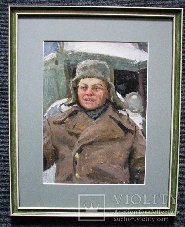 Волошин Георгий Сергеевич (1925-2014), мальчик в шапке-ушанке, Днепропетровск 1944г.,к.м.