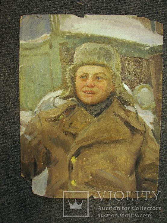 Волошин Георгий Сергеевич (1925-2014), мальчик в шапке-ушанке, Днепропетровск 1944г.,к.м., фото №3