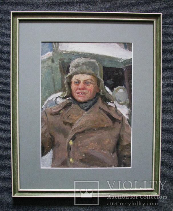 Волошин Георгий Сергеевич (1925-2014), мальчик в шапке-ушанке, Днепропетровск 1944г.,к.м., фото №6