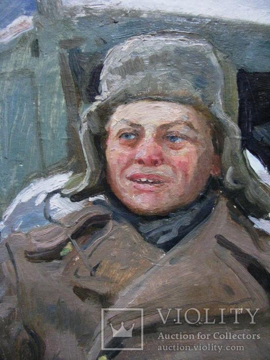 Волошин Георгий Сергеевич (1925-2014), мальчик в шапке-ушанке, Днепропетровск 1944г.,к.м., фото №8