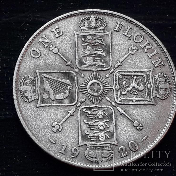 Флорин (2 шиллинга), Великобритания, 1920 год, серебро 500-й пробы