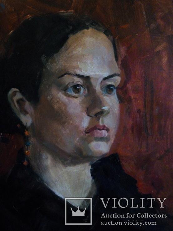 Картина маслом, портрет актрисы