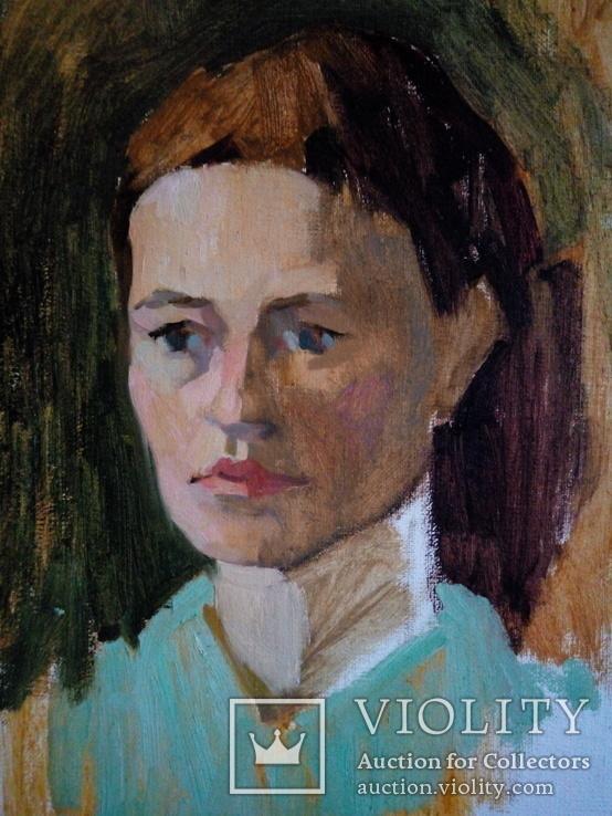 Картина маслом, портрет строгой дамы