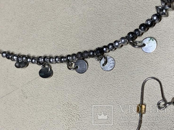 Ожерелье+серьги с перламутром в наборе, фото №6