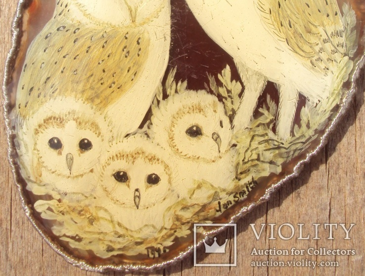 Авторский кулон, серебро, живопись., фото №6